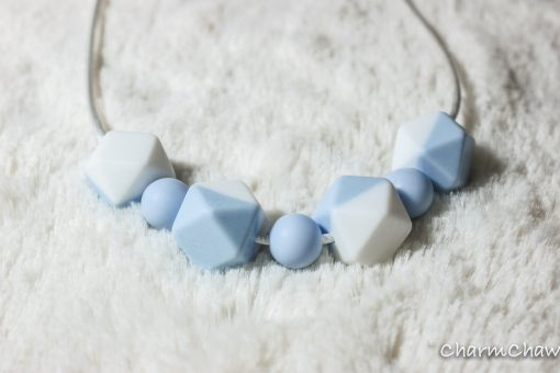 Silicon teething necklace-Tender-Blue