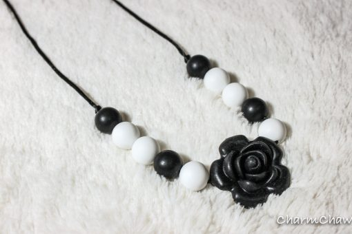 Silicon teething necklace-Glorious-Black