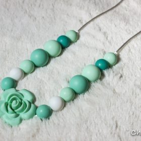Silicon teething necklace-Wonderful-Green